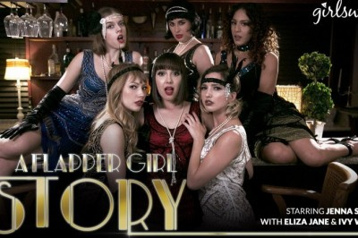 Jenna Sativa Time Travels to the Roaring '20s in Girlsway's A Flapper Girl Story