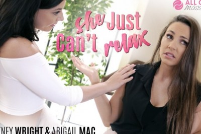 Whitney Wright Gives Stress Relief to Abigail Mac in All-Girl Massage's She Just Can't Relax