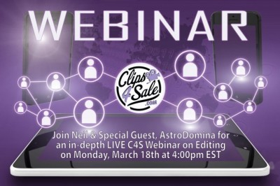 Learn Clip Editing & More in Clips4Sale Webinar with Neil & AstroDomina